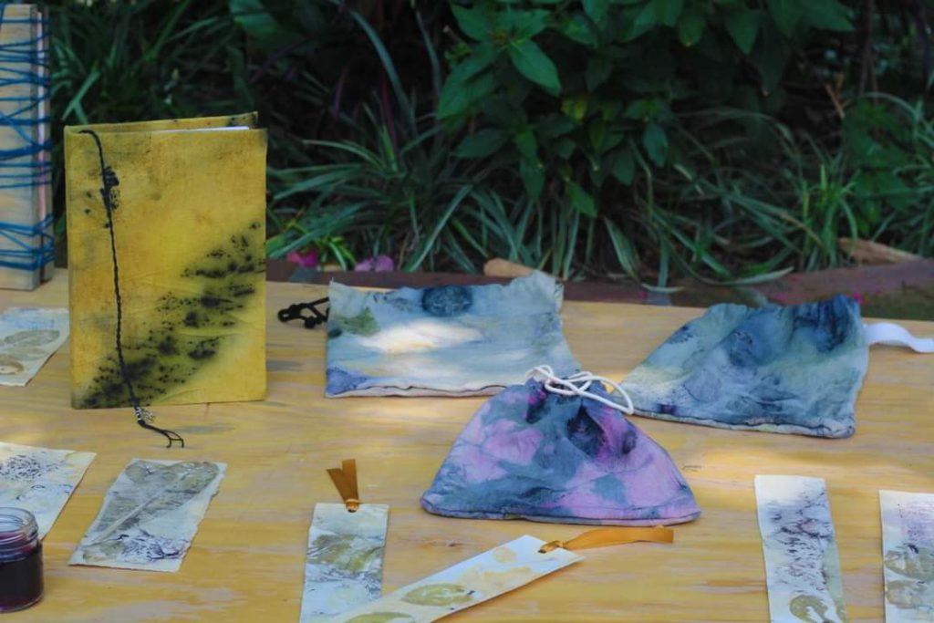 Muestra de Impresion Vegetal en el Jardin Borda